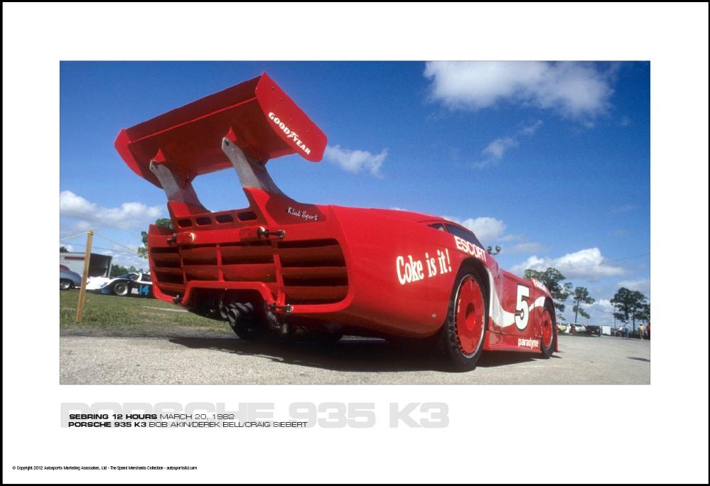 porsche 935 k3 bob akin derek bell craig siebert sebring 12 hours march 20 1982 autosports. Black Bedroom Furniture Sets. Home Design Ideas