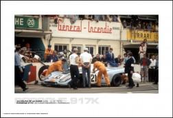 PORSCHE 917K LEO KINNUNEN/PEDRO RODRIGUEZ - 24 HOURS OF LE MANS JUNE 13-14, 1970