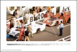 PORSCHE 917LH KURT AHRENS/VIC ELFORD PORSCHE 917K RICHARD ATTWOOD/HANS HERRMANN - 24 HOURS OF LE MANS JUNE 13-14, 1970