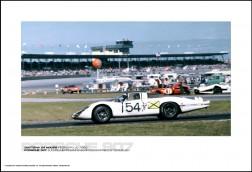 PORSCHE 907 ELFORD/HERRMANN/NEERPASCH/SIFFERT/STOMMELEN - DAYTONA 24 HOURS FEBRUARY 4, 1968