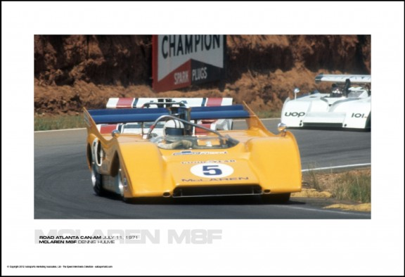 MCLAREN M8F DENNIS HULME – ROAD ATLANTA CAN-AM JULY 11, 1971