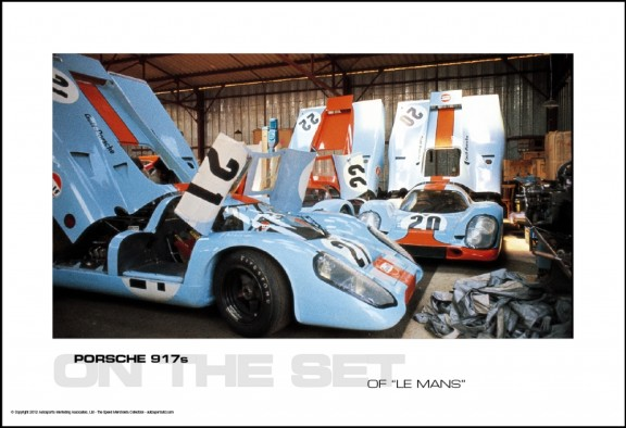 "PORSCHE 917s ON THE SET OF ""LE MANS"""