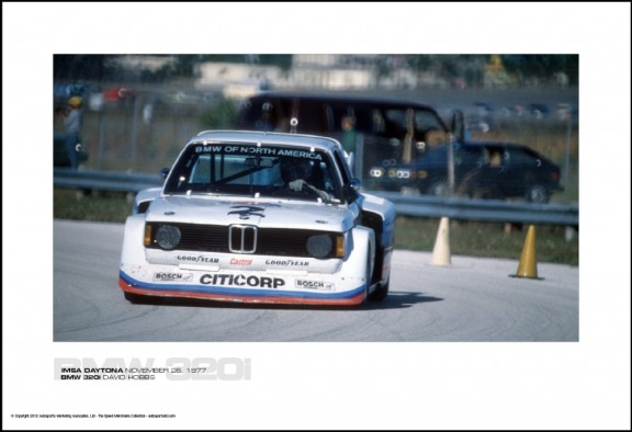 BMW 320i DAVID HOBBS – IMSA DAYTONA NOVEMBER 26, 1977