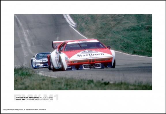BMW M1 DAVID HOBBS/HANS STUCK – WATKINS GLEN 6 HRS JULY 6, 1980