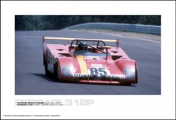 FERRARI 312P MARIO ANDRETTI/JACKY ICKX – WATKINS GLEN 6 HOURS JULY 22, 1972