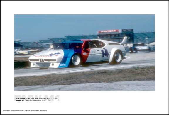 BMW M1 BRUN/GEBHARDT/STUCK – DAYTONA 24 HOURS FEBRUARY 1, 1981