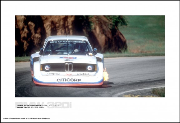 BMW 320i DAVID HOBBS – IMSA ROAD ATLANTA APRIL 17, 1977