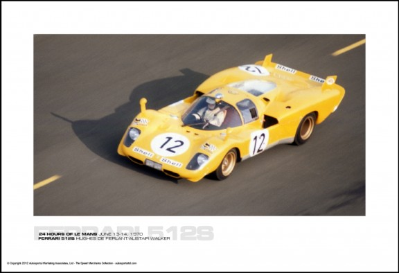 FERRARI 512S HUGHES DE FIERLANT/ALISTAIR WALKER – 24 HOURS OF LE MANS JUNE 13-14, 1970
