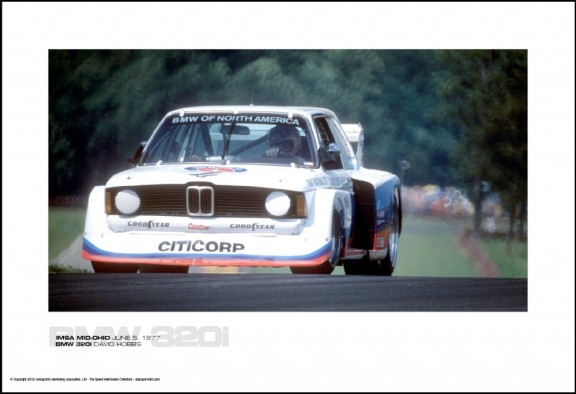 BMW 320i DAVID HOBBS – IMSA MID-OHIO JUNE 5, 1977