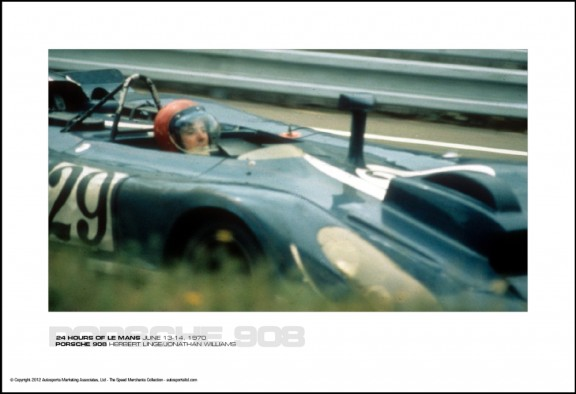 PORSCHE 908 HERBERT LINGE/JONATHAN WILLIAMS – 24 HOURS OF LE MANS JUNE 13-14, 1970