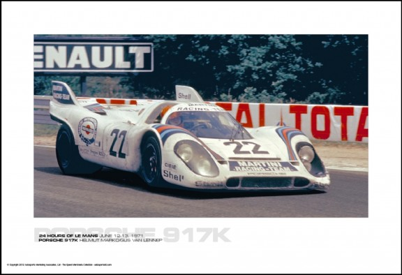 PORSCHE 917K HELMUT MARKO/GIJS VAN LENNEP – 24 HOURS OF LE MANS JUNE 12-13, 1971