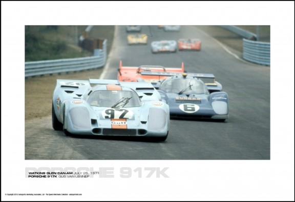 PORSCHE 917K GIJS VAN LENNEP – WATKINS GLEN CAN-AM JULY 25, 1971