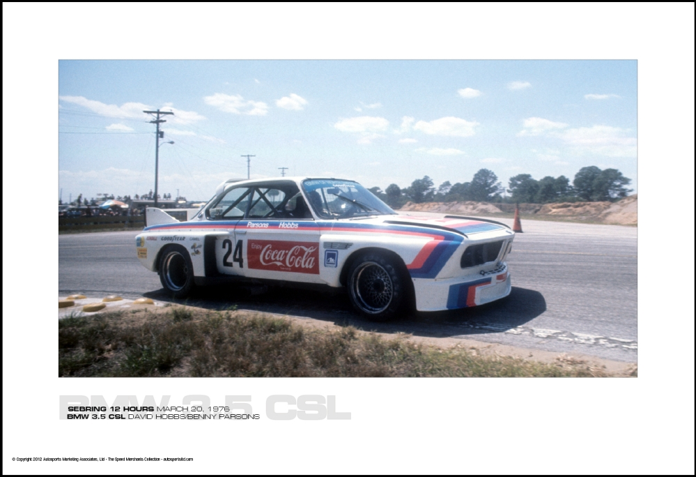 Bmw 3 5 Csl David Hobbs Benny Parsons Sebring 12 Hours March 20 1976 Autosports Marketing