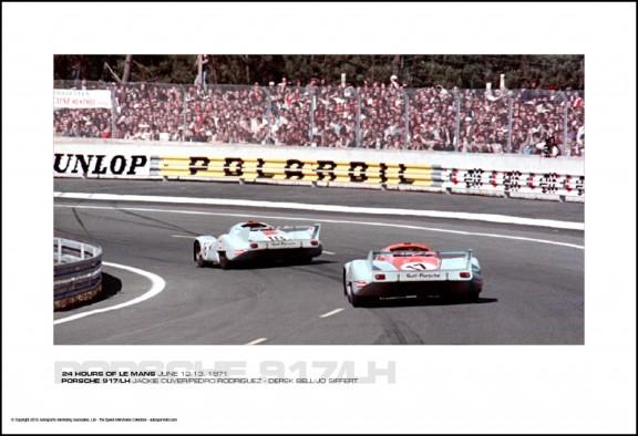 PORSCHE 917/LH JACKIE OLIVER/PEDRO RODRIGUEZ – DEREK BELL/JO SIFFERT – 24 HOURS OF LE MANS JUNE 12-13, 1971