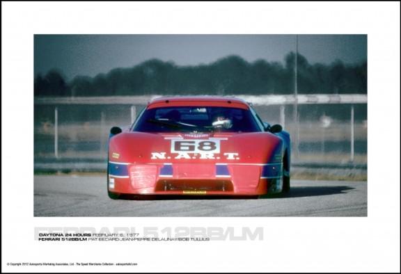 FERRARI 512BB/LM PAT BEDARD/JEAN-PIERRE DELAUNAY/BOB TULLIUS – DAYTONA 24 HOURS FEBRUARY 6, 1977