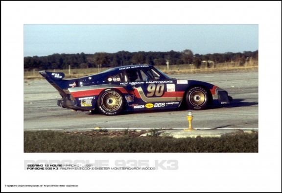 PORSCHE 935 K3  RALPH KENT-COOKE/SKEETER MCKITTERICK/ROY WOODS - SEBRING 12 HOURS MARCH 21, 1981
