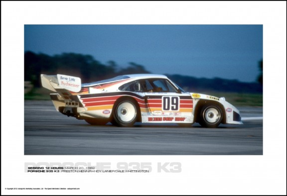 PORSCHE 935 K3  PRESTON HENN/RANDY LANIER/DALE WHITTINGTON – SEBRING 12 HOURS MARCH 20, 1982