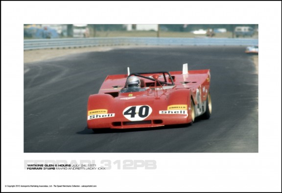 FERRARI 312PB MARIO ANDRETTI/JACKY ICKX – WATKINS GLEN 6 HOURS JULY 24, 1971