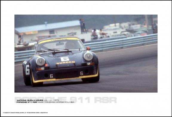 PORSCHE 911 RSR MARK DONOHUE/GEORGE FOLLMER – WATKINS GLEN 6 HOURS JULY 21, 1973