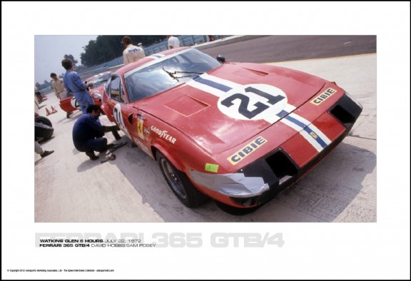 FERRARI 365 GTB/4 DAVID HOBBS/SAM POSEY – WATKINS GLEN 6 HOURS JULY 22, 1972
