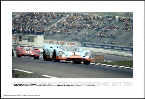 FERRARI 512S MARIO ANDRETTI/IGNAZIO GIUNTI  PORSCHE 917K BRIAN REDMAN/JO SIFFERT – WATKINS GLEN 6 HOURS JULY 11, 1970