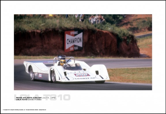 LOLA T310 DAVID HOBBS – ROAD ATLANTA CAN-AM JULY 9, 1972