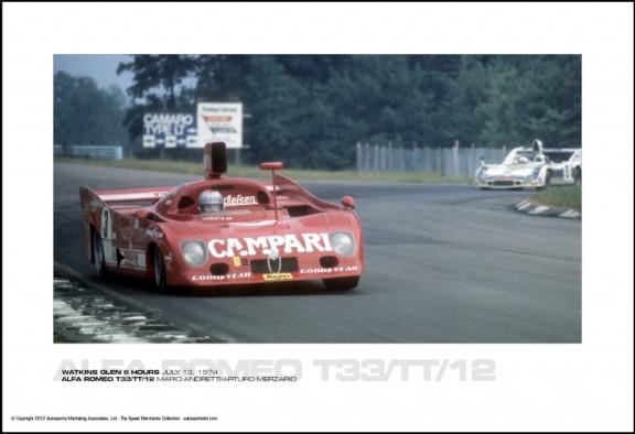 ALFA ROMEO T33/TT/12 MARIO ANDRETTI/ARTURO MERZARIO – WATKINS GLEN 6 HOURS JULY 13, 1974