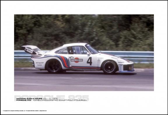 PORSCHE 935  JOCHEN MASS/MANFRED SCHURTI/ROLF STOMMELEN – WATKINS GLEN 6 HOURS JULY 10, 1976