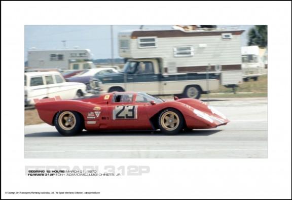 FERRARI 312P TONY ADAMOWICZ/LUIGI CHINETTI, JR