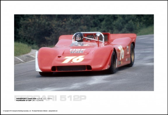 FERRARI 512P JIM ADAMS – MOSPORT CAN-AM JUNE 13, 1971