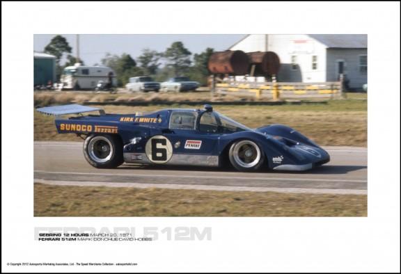 FERRARI 512M MARK DONOHUE/DAVID HOBBS – SEBRING 12 HOURS MARCH 20, 1971
