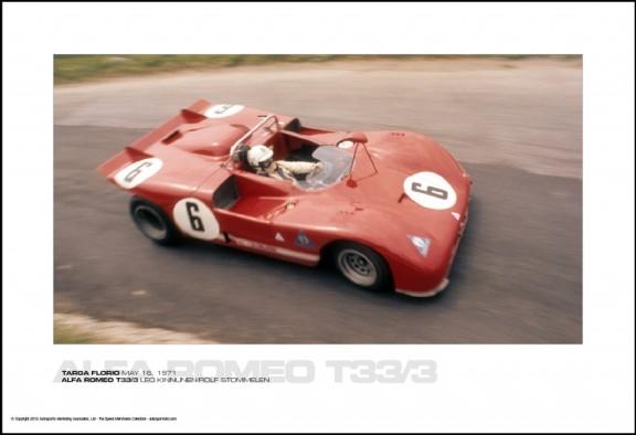 ALFA ROMEO T33/3 LEO KINNUNEN/ROLF STOMMELEN – TARGA FLORIO MAY 16, 1971