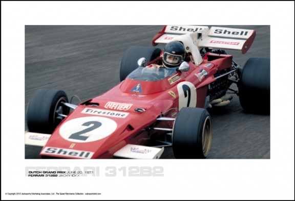 FERRARI 312B2 JACKY ICKX – DUTCH GRAND PRIX JUNE 20, 1971