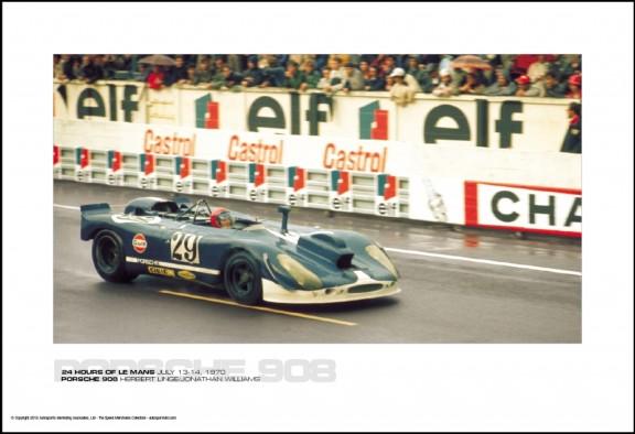 PORSCHE 908 HERBERT LINGE/JONATHAN WILLIAMS – 24 HOURS OF LE MANS JUNE 13-14, 1970