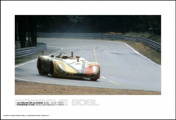 PORSCHE 9108L RUDI LINS/HELMUT MARKO – 24 HOURS OF LE MANS JUNE 13-14, 1970