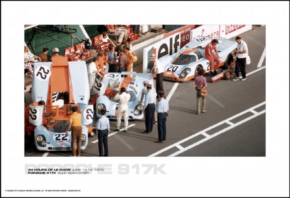 PORSCHE 917K GULF TEAM WYER – 24 HOURS OF LE MANS JUNE 13-14, 1970