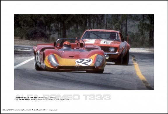 ALFA ROMEO T33/3 NANNI GALLI/ROLF STOMMELEN – SEBRING 12 HOURS MARCH 21, 1970