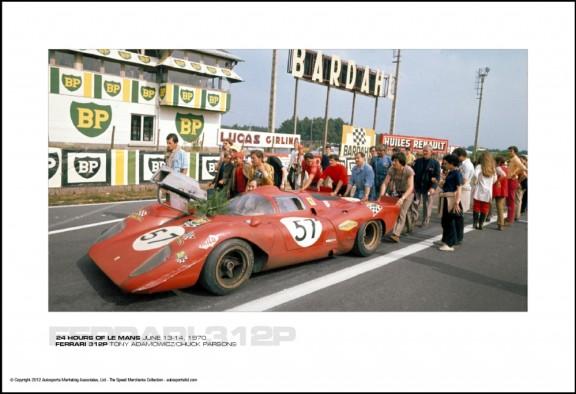 FERRARI 312P TONY ADAMOWICZ/CHUCK PARSONS – 24 HOURS OF LE MANS JUNE 13-14, 1970