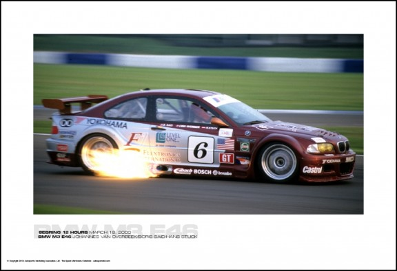 BMW M3 E46 JOHANNES VAN OVERBEEK/BORIS SAID/HANS STUCK – SEBRING 12 HOURS MARCH 18, 2000