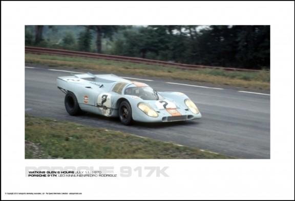 PORSCHE 917K LEO KINNUNEN/PEDRO RODRIGUZ – WATKINS GLEN 6 HOURS JULY 11, 1970