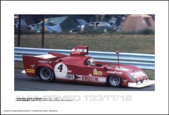 ALFA ROMEO T33/TT/12 DEREK BELL/HENRI PESCAROLO – WATKINS GLEN 6 HOURS JULY 13, 1975