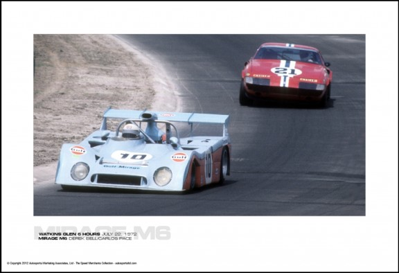 MIRAGE M6 DEREK BELL/CARLOS PACE – WATKINS GLEN 6 HOURS JULY 22, 1972