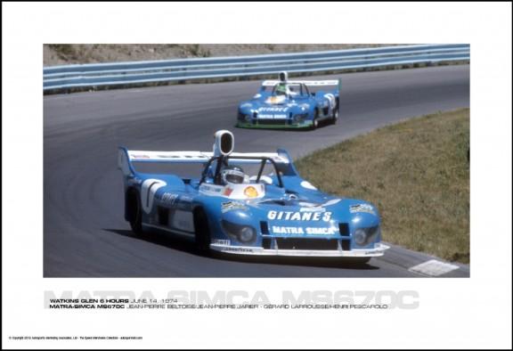 MATRA-SIMCA MS670C BELTOISE/JARIER – LARROUSSE/PESCAROLO -WATKINS GLEN 6 HOURS JUNE 14, 1974