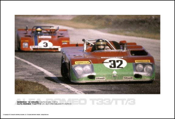 ALFA ROMEO T33/TT/3 VIC ELFORD/HELMUT MARKO – SEBRING 12 HOURS MARCH 25, 1972