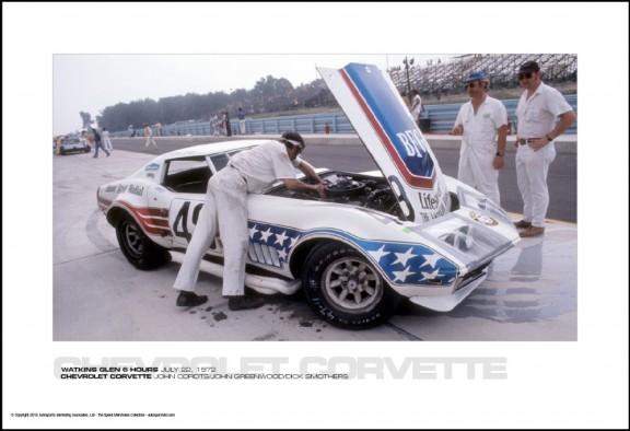 CHEVROLET CORVETTE JOHN CORDTS/JOHN GREENWOOD/DICK SMOTHERS – WATKINS GLEN 6 HOURS JULY 22, 1972