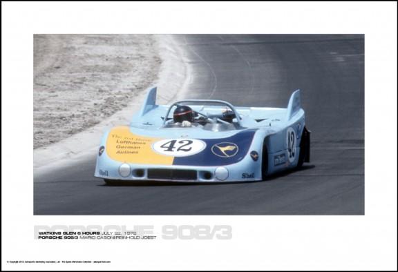 PORSCHE 908/3 MARIO CASONI/REINHOLD JOEST – WATKINS GLEN 6 HOURS JULY 22, 1972