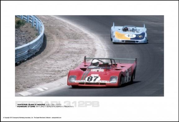 FERRARI 312PB ARTURO MERZARIO/BRIAN REDMAN – WATKINS GLEN 6 HOURS JULY 22, 1972