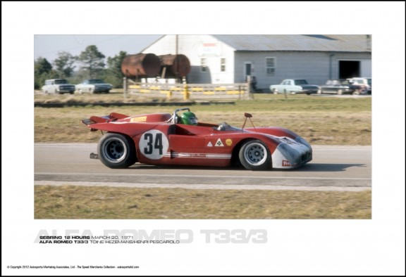 ALFA ROMEO T33/3 TOINE HEZEMANS/HENRI PESCAROLO – SEBRING 12 HOURS MARCH 20, 1971