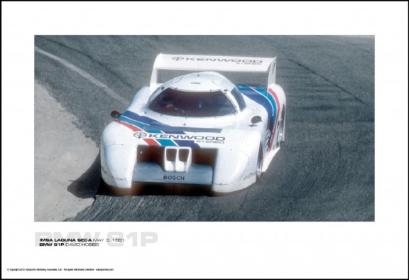 BMW 81P DAVID HOBBS – IMSA LAGUNA SECA MAY 3, 1981