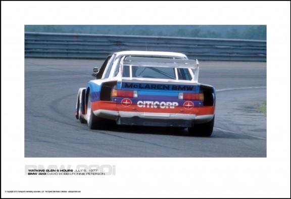 BMW 320i DAVID HOBBS/RONNIE PETERSON – WATKINS GLEN 6 HOURS JULY 9, 1977